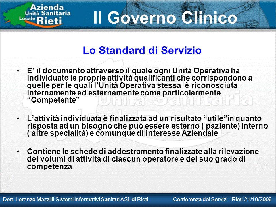 Lo Standard di Servizio