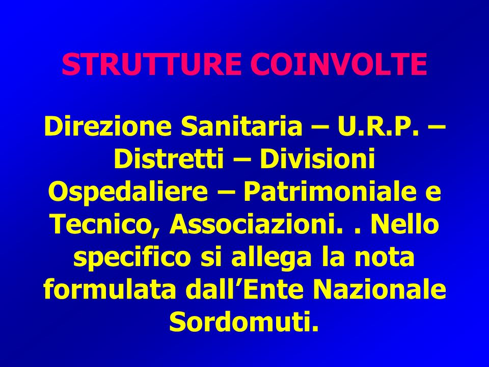 STRUTTURE COINVOLTE