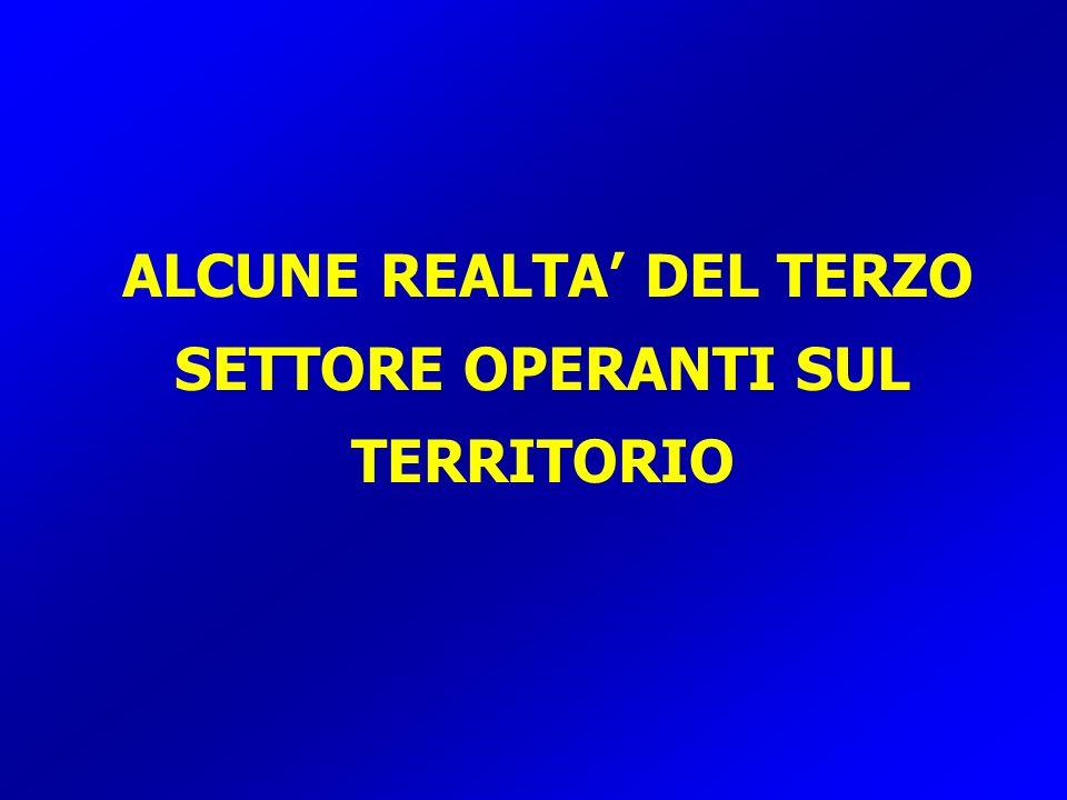 ALCUNE REALTA' DEL TERZO SETTORE OPERANTI SUL TERRITORIO