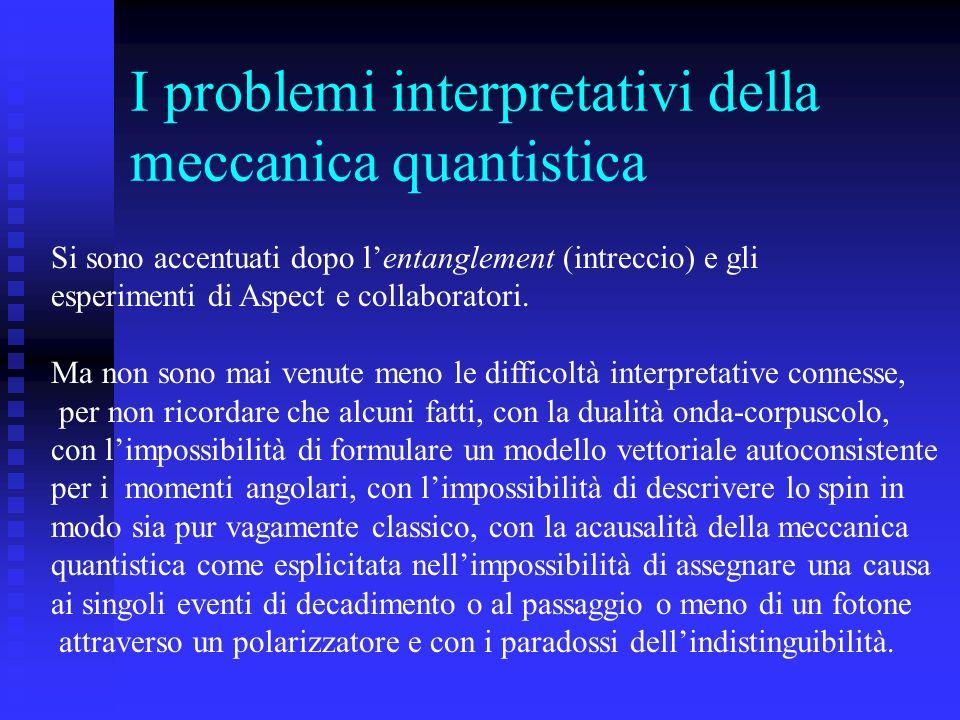 I problemi interpretativi della meccanica quantistica