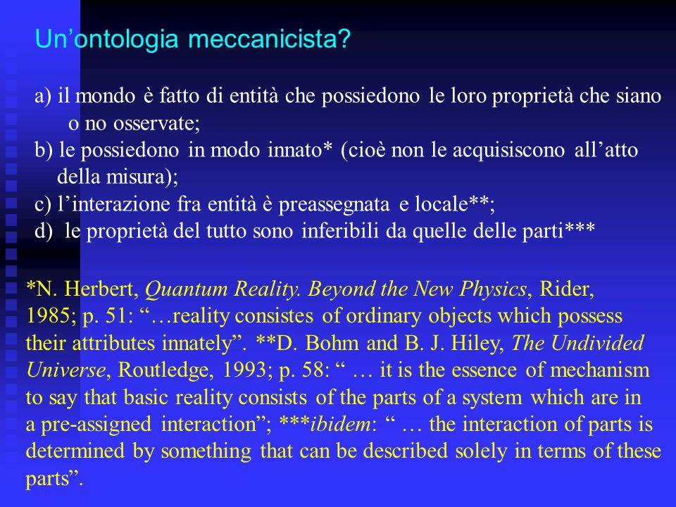 Un'ontologia meccanicista