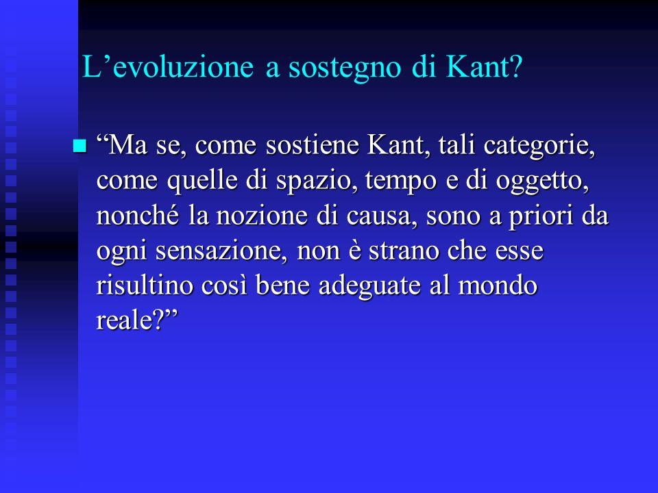L'evoluzione a sostegno di Kant