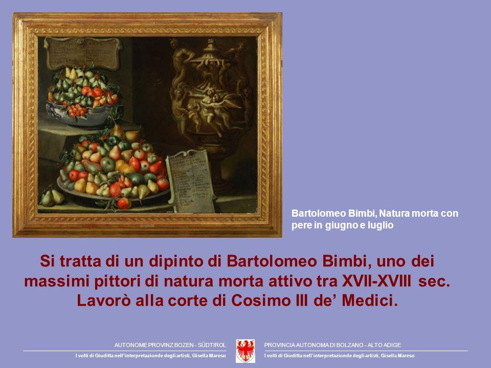 Bartolomeo Bimbi, Natura morta con pere in giugno e luglio