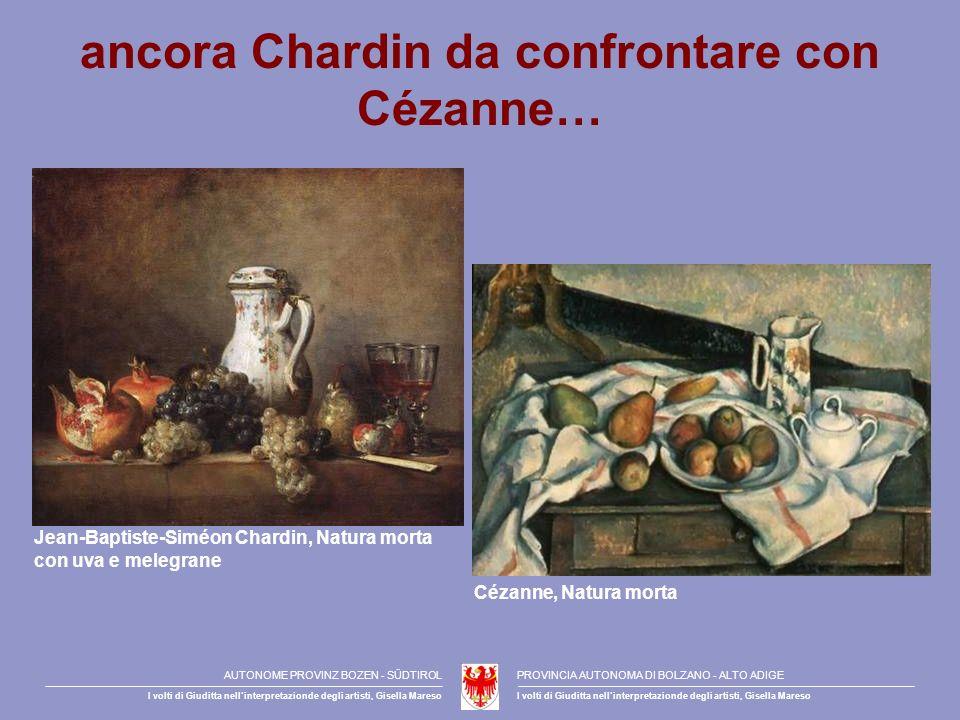 ancora Chardin da confrontare con Cézanne…