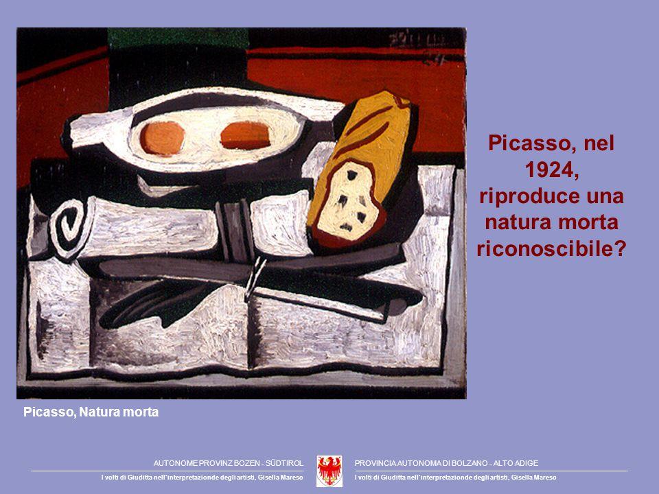 Picasso, nel 1924, riproduce una natura morta riconoscibile