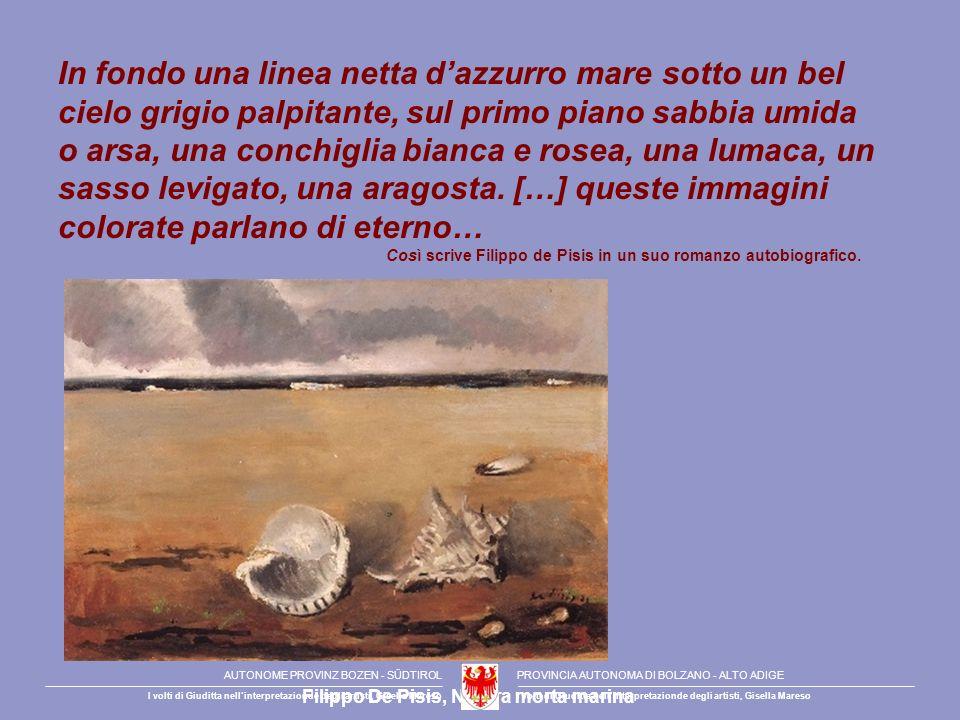 Filippo De Pisis, Natura morta marina