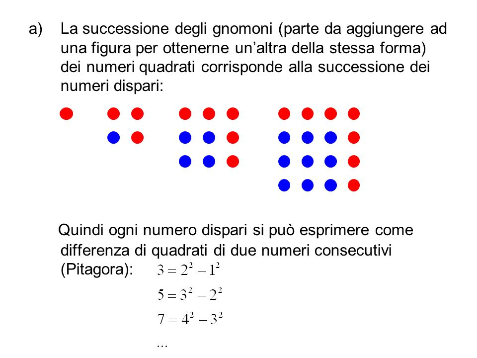 I numeri figurati numeri quadrati numeri triangolari for Differenza di due quadrati
