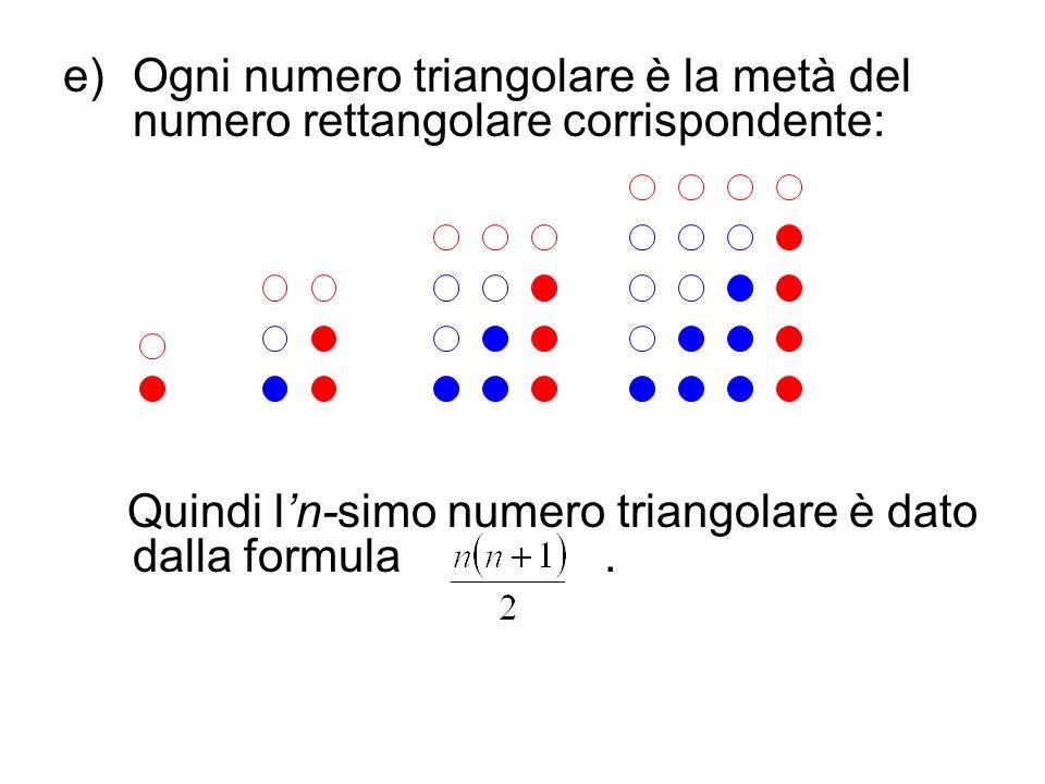 Ogni numero triangolare è la metà del numero rettangolare corrispondente: