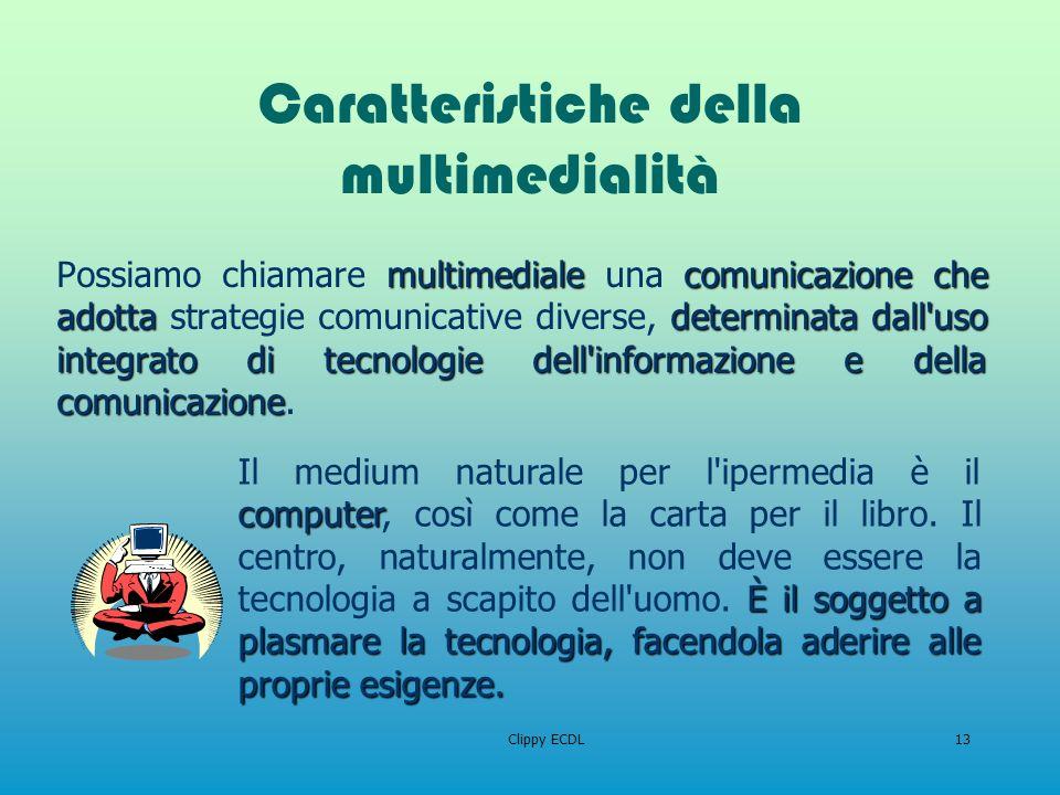 Caratteristiche della multimedialità
