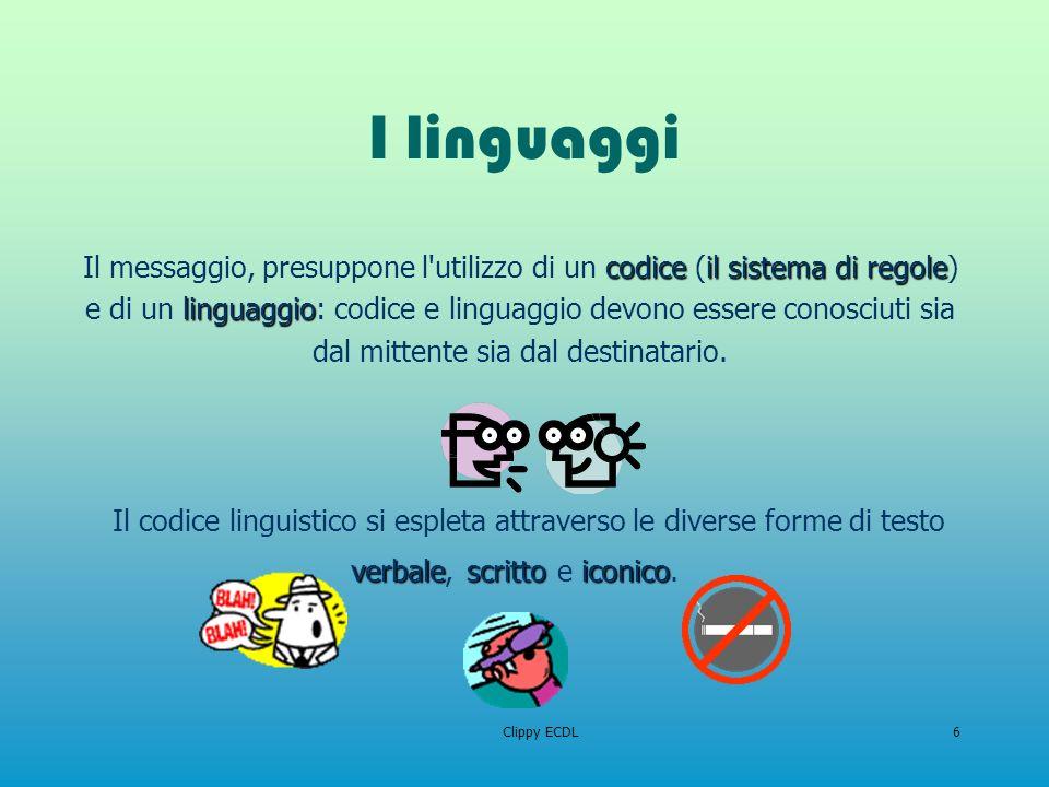 Il codice linguistico si espleta attraverso le diverse forme di testo