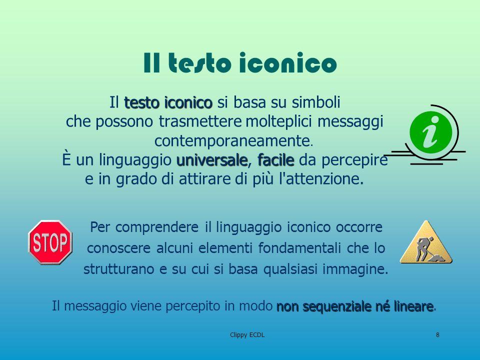 Il testo iconico Il testo iconico si basa su simboli