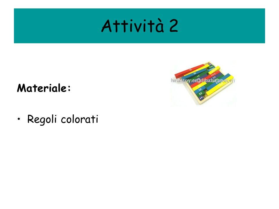 Attività 2 Materiale: Regoli colorati