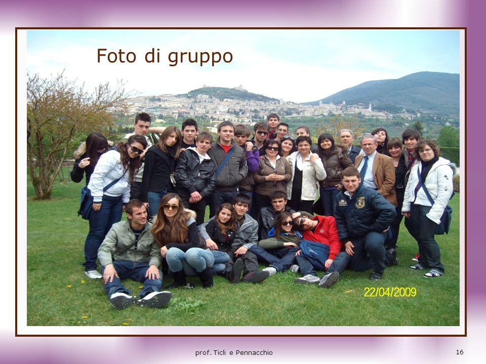 Foto di gruppo prof. Ticli e Pennacchio