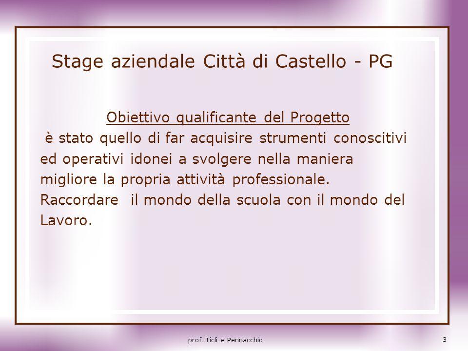 Stage aziendale Città di Castello - PG