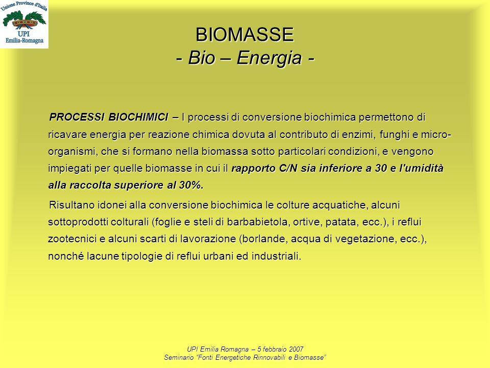 BIOMASSE - Bio – Energia -