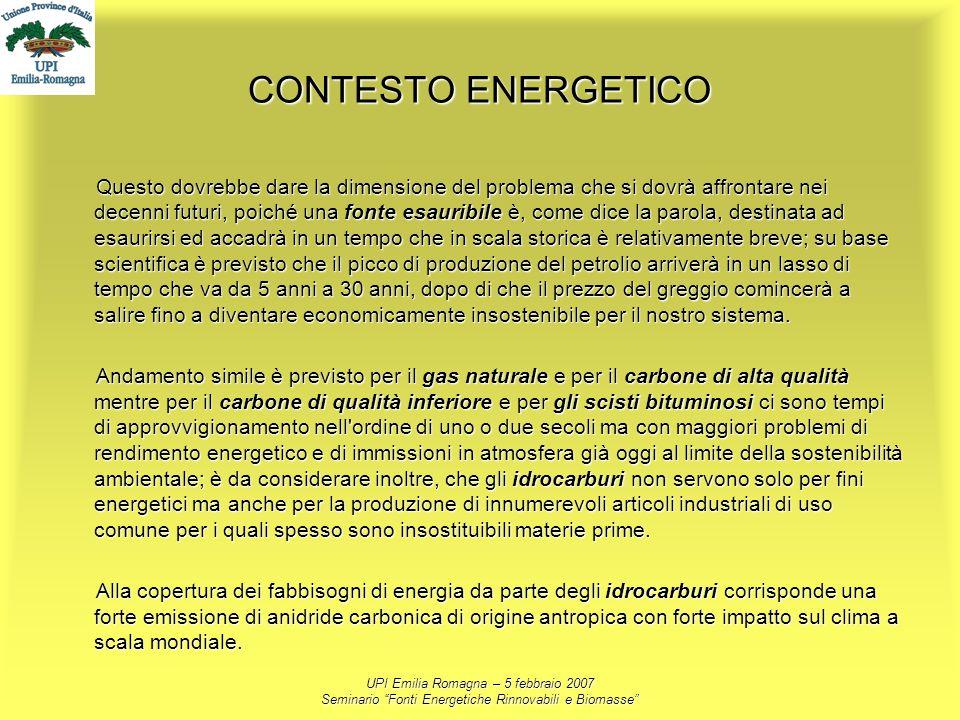 CONTESTO ENERGETICO