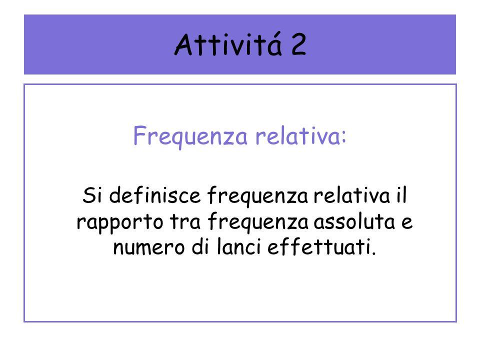 Attivitá 2 Frequenza relativa:
