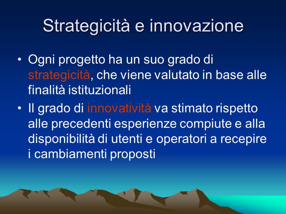 Strategicità e innovazione