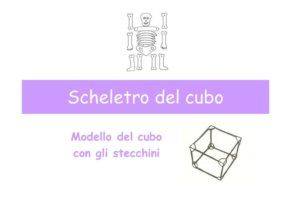 Modello del cubo con gli stecchini