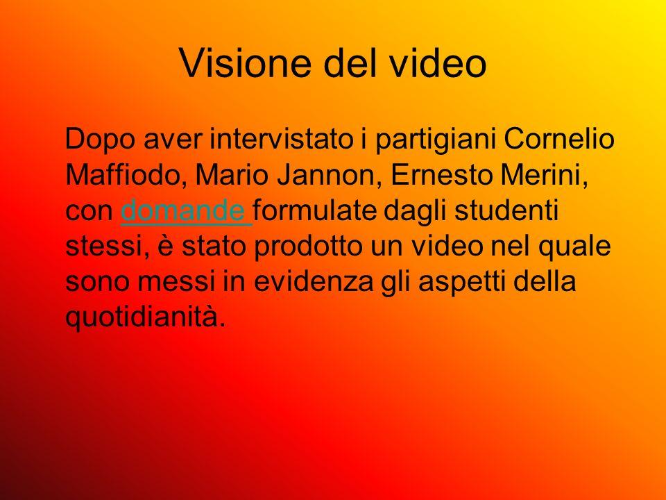 Visione del video