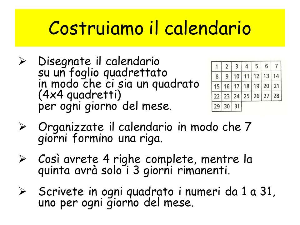 Costruiamo il calendario