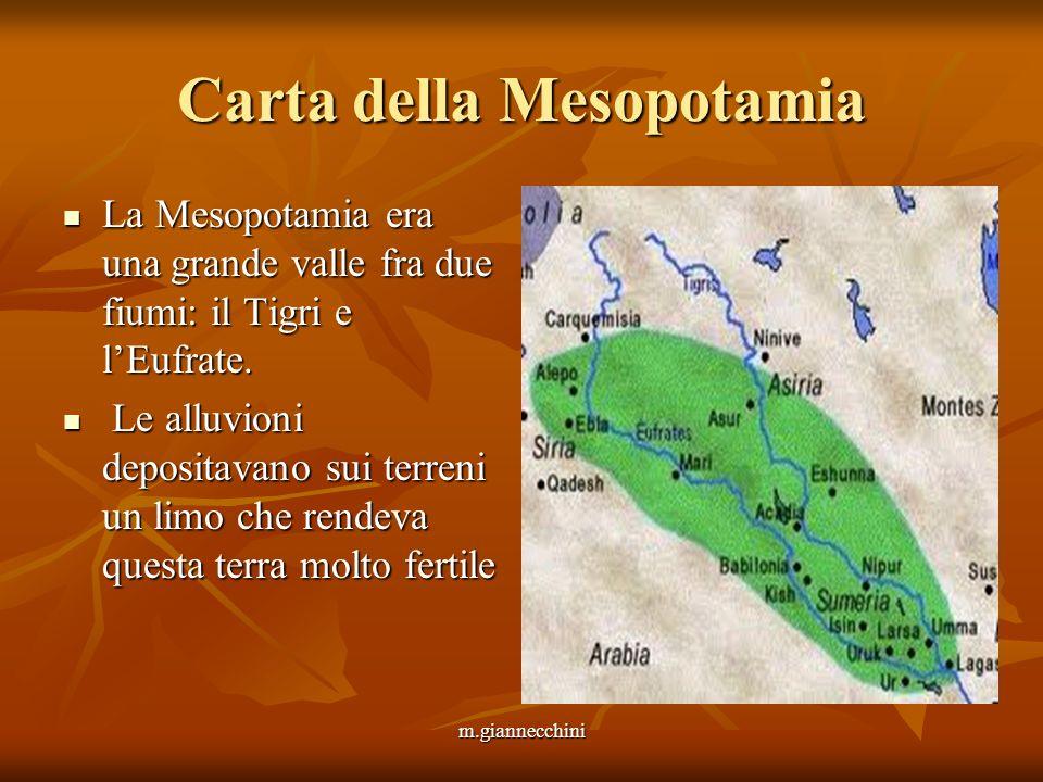 Carta della Mesopotamia