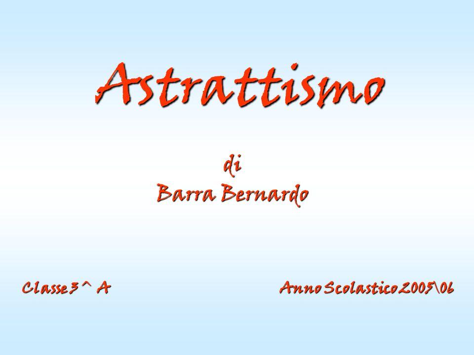 Astrattismo di. Barra Bernardo.