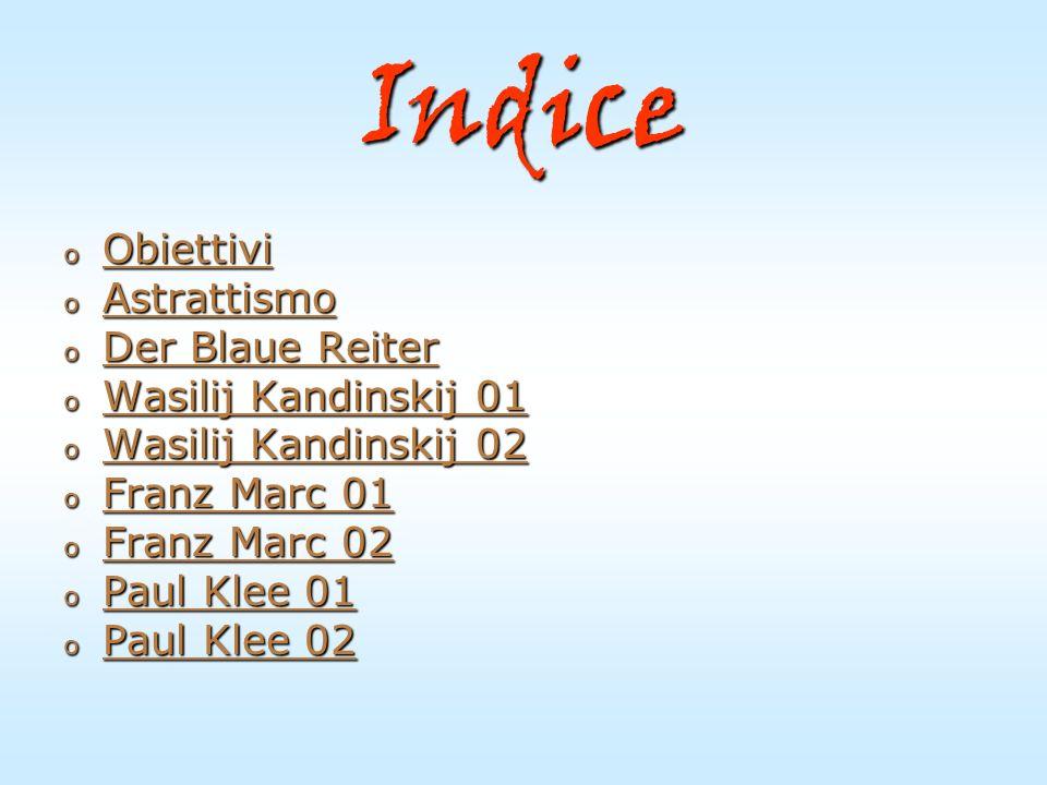 Indice Obiettivi Astrattismo Der Blaue Reiter Wasilij Kandinskij 01
