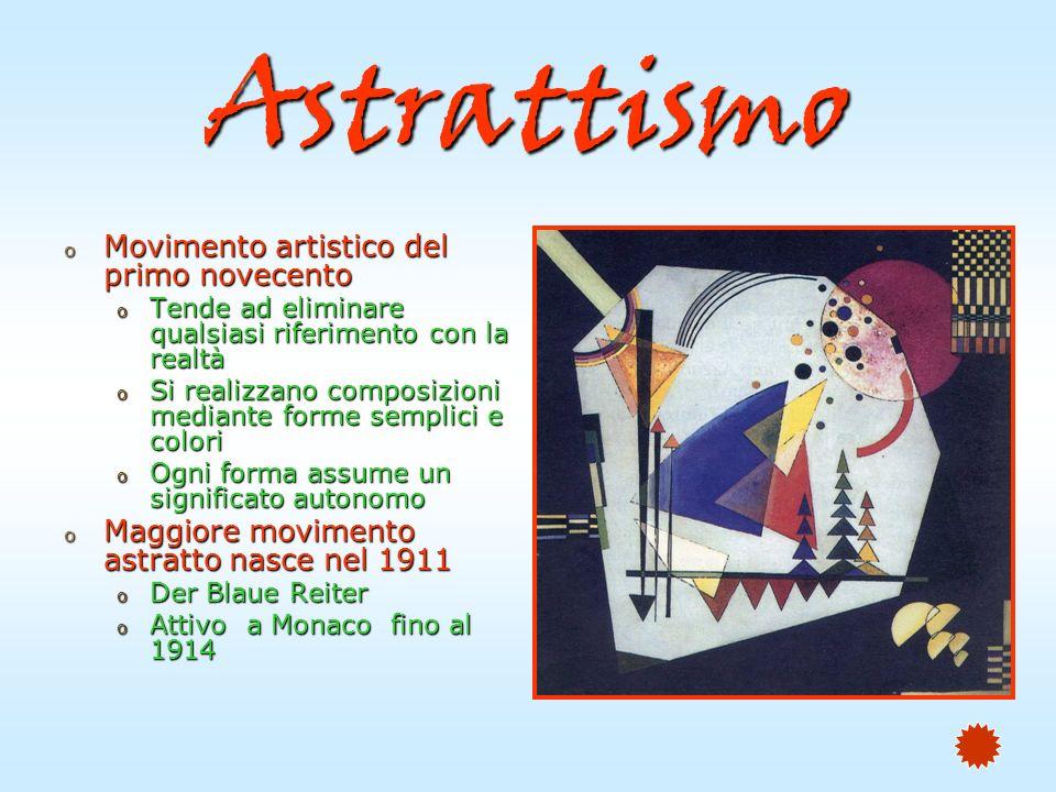 Astrattismo Movimento artistico del primo novecento