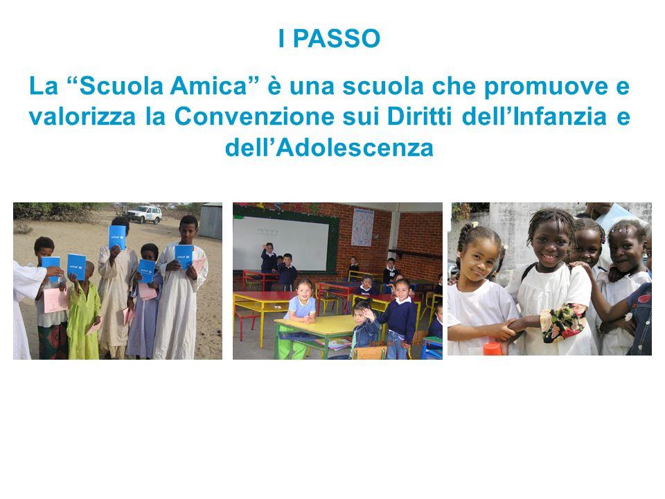 I PASSO La Scuola Amica è una scuola che promuove e valorizza la Convenzione sui Diritti dell'Infanzia e dell'Adolescenza.