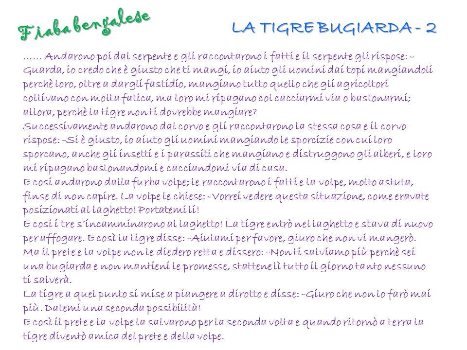 Fiaba bengalese LA TIGRE BUGIARDA - 2
