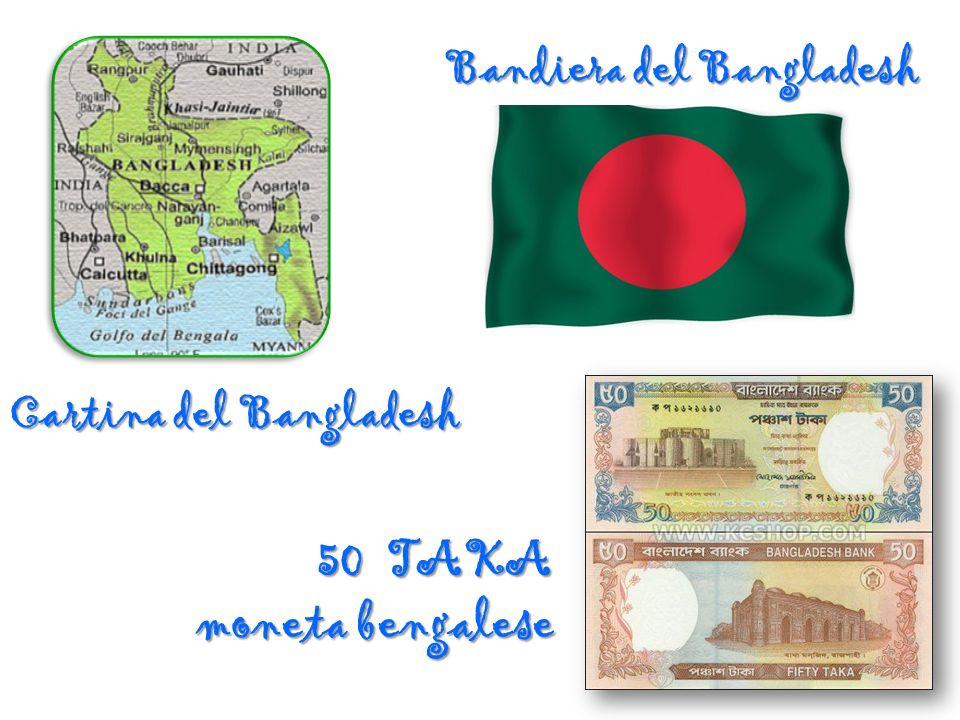 50 TAKA moneta bengalese Bandiera del Bangladesh