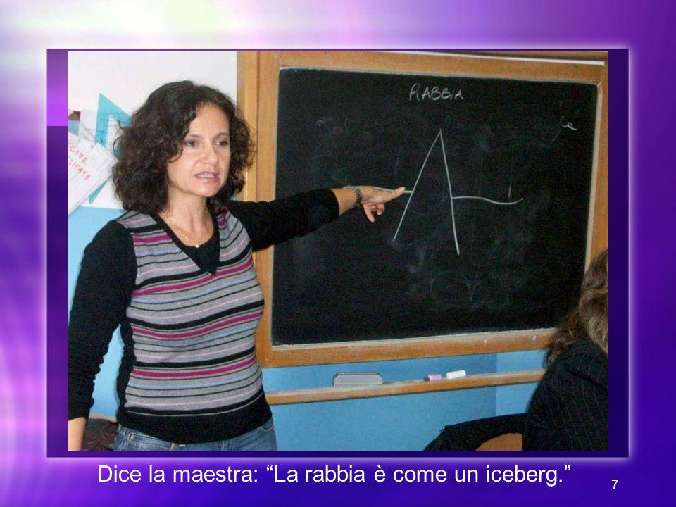 Dice la maestra: La rabbia è come un iceberg.