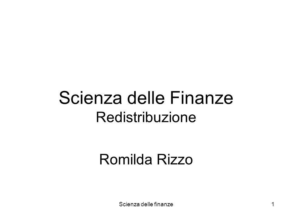 Scienza delle Finanze Redistribuzione