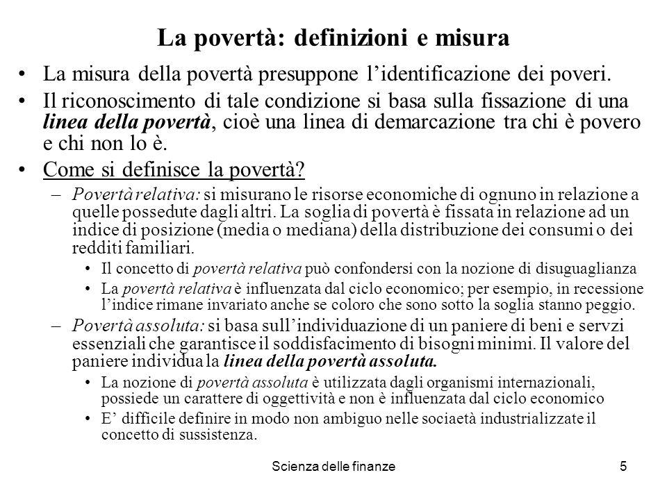 La povertà: definizioni e misura
