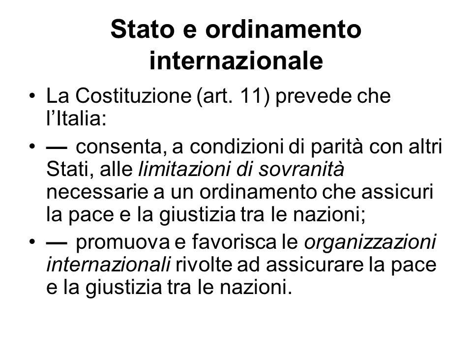 Stato e ordinamento internazionale