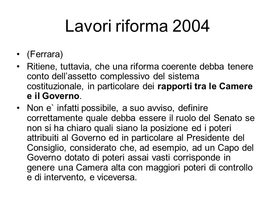 Lavori riforma 2004 (Ferrara)