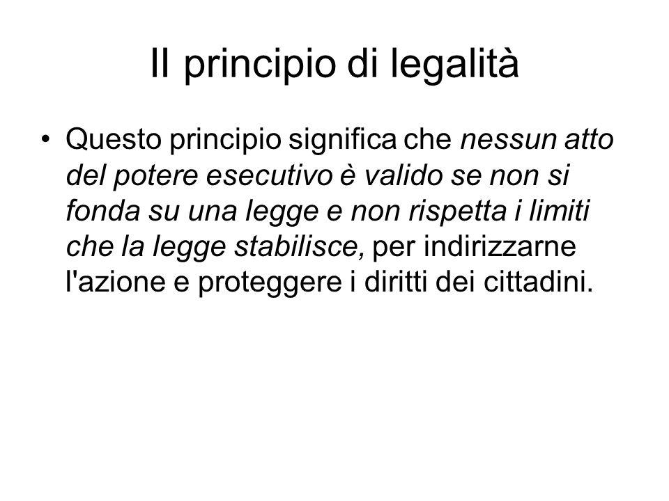 II principio di legalità