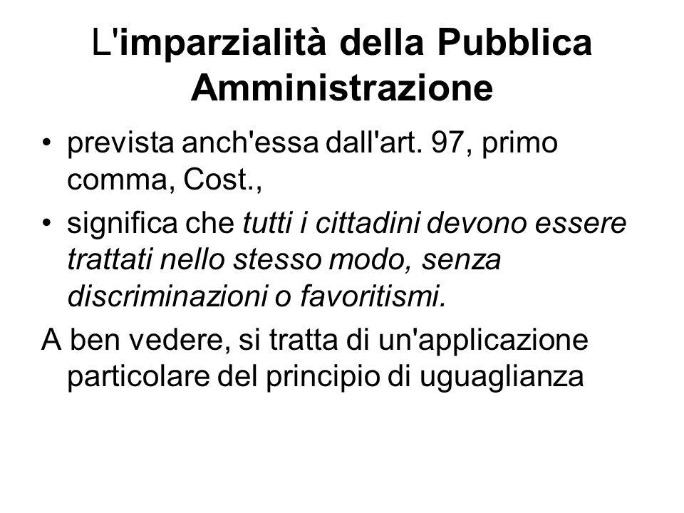 L imparzialità della Pubblica Amministrazione