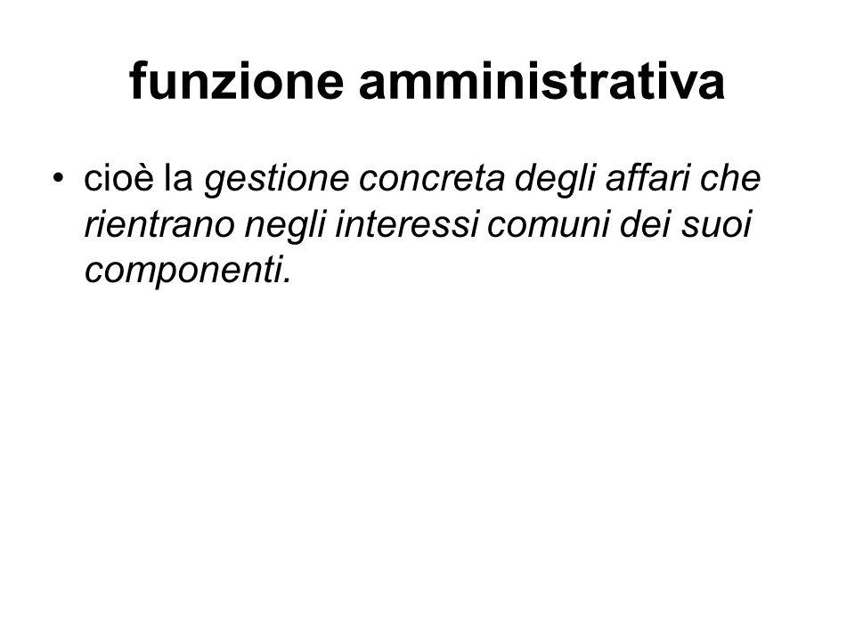 funzione amministrativa