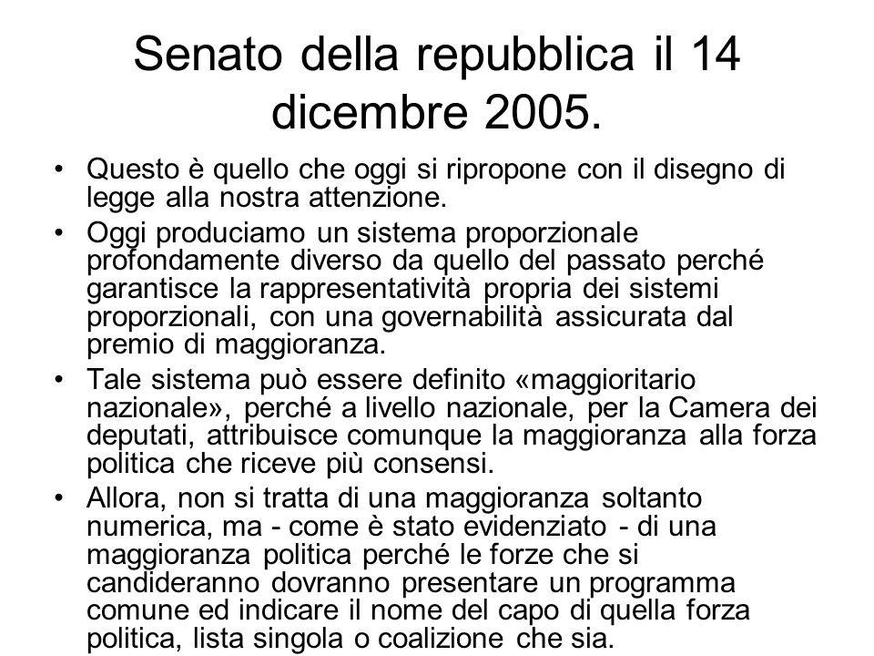 Senato della repubblica il 14 dicembre 2005.