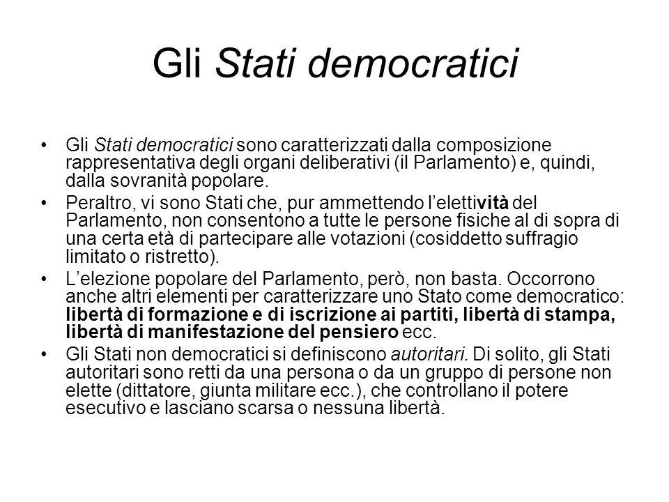 Gli Stati democratici