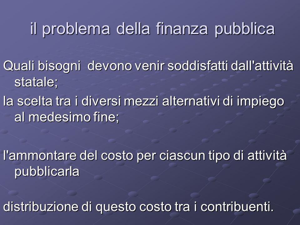 il problema della finanza pubblica