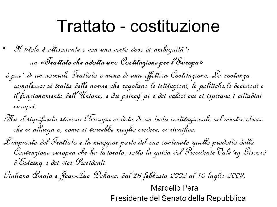 Trattato - costituzione