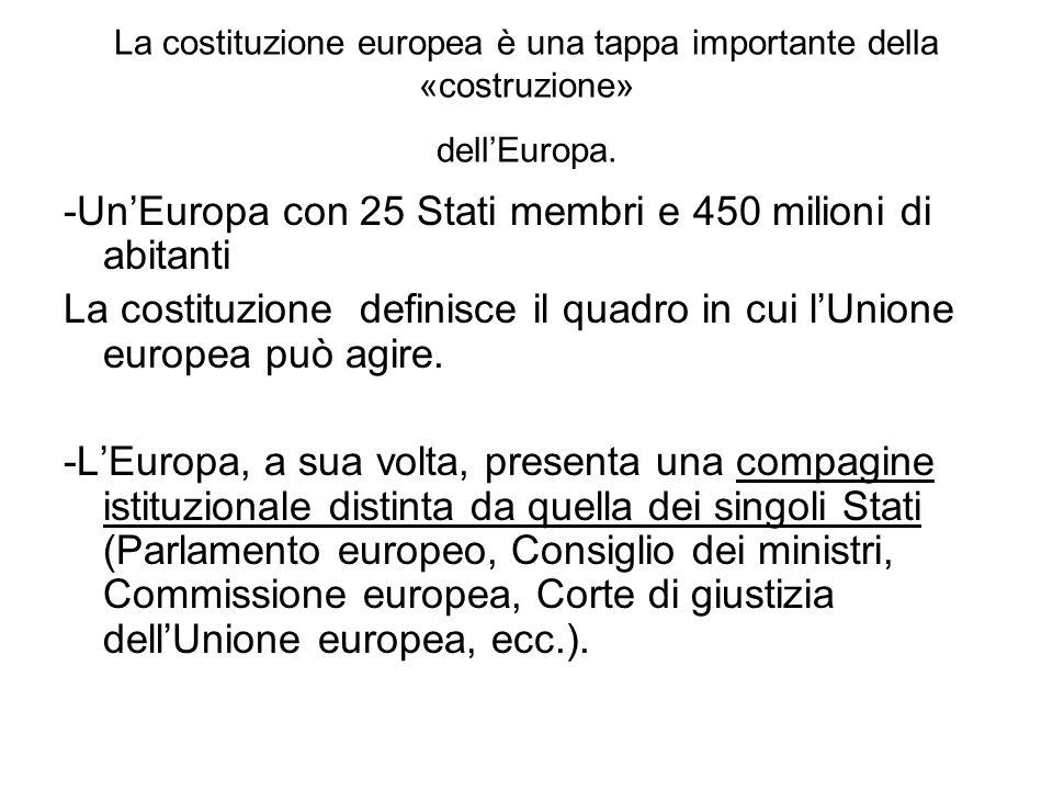 -Un'Europa con 25 Stati membri e 450 milioni di abitanti