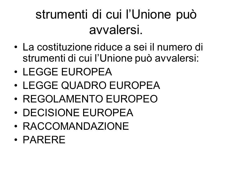 strumenti di cui l'Unione può avvalersi.