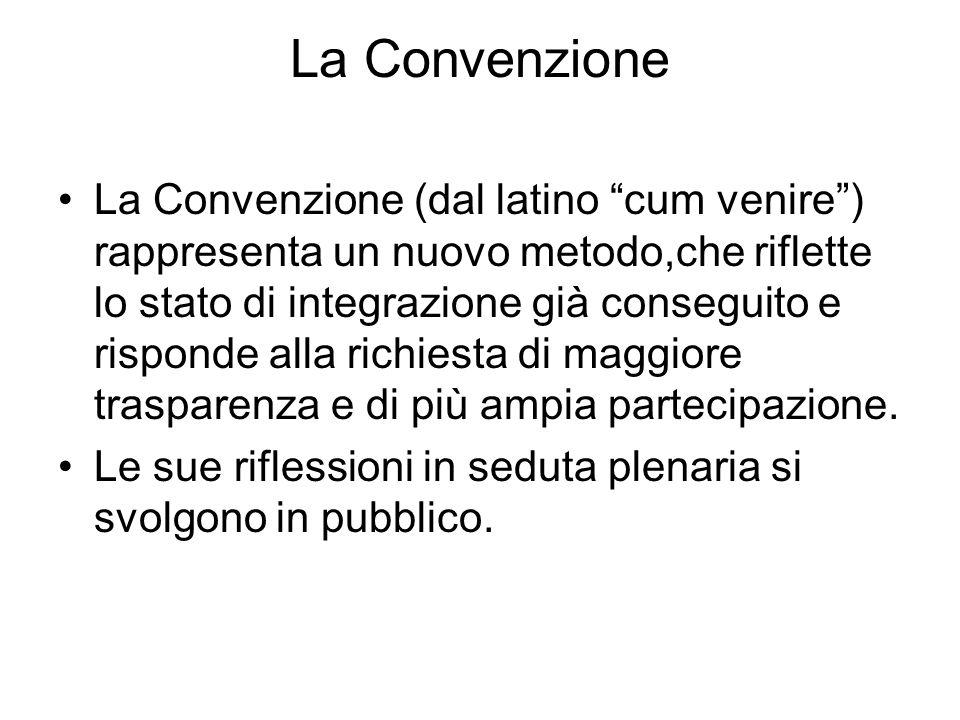 La Convenzione