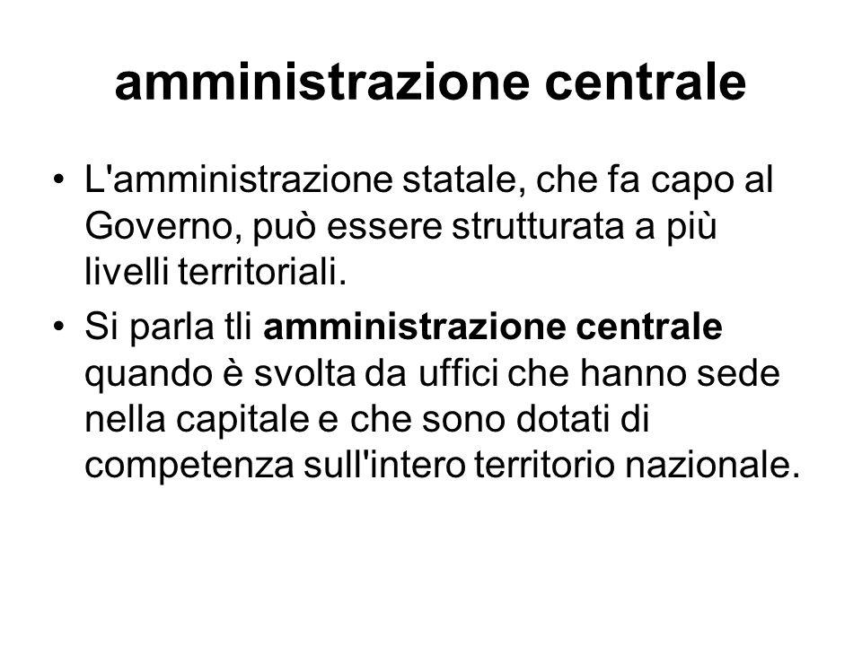 amministrazione centrale