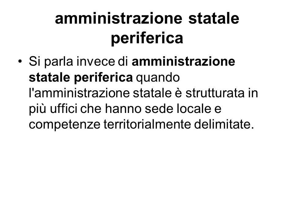 amministrazione statale periferica