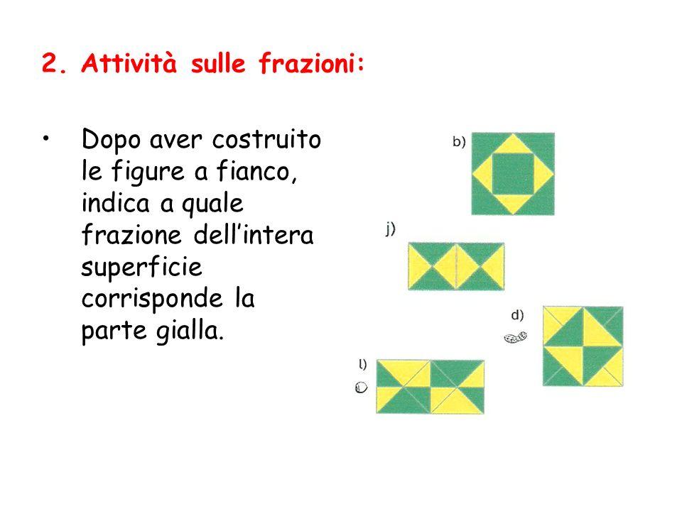 2. Attività sulle frazioni: